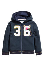 Patterned hooded jacket - Dark blue - Kids | H&M 2