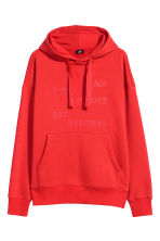 Oversized hooded top - Bright red - Men | H&M 2