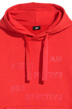 Oversized hooded top - Bright red - Men | H&M 3