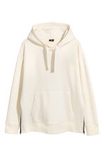 Oversized hoodie - Wit - HEREN | H&M BE 2