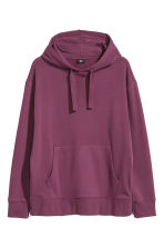 Oversized hooded top - Burgundy - Men | H&M 2
