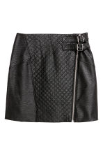 Short biker skirt - Black - Ladies | H&M 2