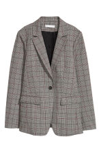 Single-breasted jacket - Grey/Dogtooth patterned - Ladies | H&M GB 2