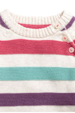 Knitted jumper - White/Multicoloured - Kids | H&M CN 2