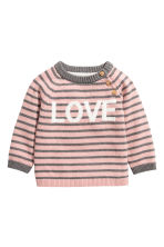 Knitted jumper - Pink/Love -  | H&M 1