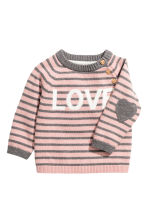 Knitted jumper - Pink/Love -  | H&M 2