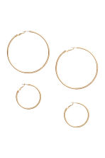 2 pairs hoop earrings - Gold - Ladies | H&M GB 1