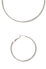 2 pairs hoop earrings - Silver - Ladies | H&M CN 2