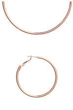 2 pairs hoop earrings - Rose gold-coloured - Ladies | H&M 2
