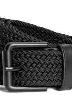 Elasticated fabric belt - Black - Men | H&M GB 2