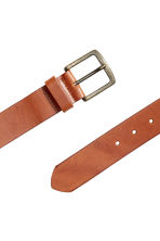 Leather belt - Brown - Men | H&M CN 2