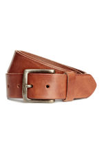 Leather belt - Brown - Men | H&M CN 1