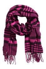 Patterned scarf - Cerise/Black checked - Ladies | H&M CN 1