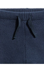 Textured-knit trousers - Dark blue -  | H&M 2