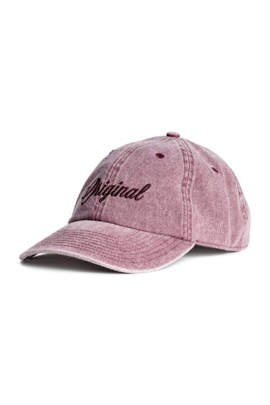 Cap with embroidery - Washed-out pink - Men | H&M CN
