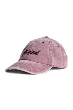 Cap with embroidery - Washed-out pink - Men | H&M CN 1