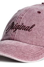 Cap with embroidery - Washed-out pink - Men | H&M CN 3