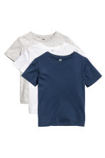 3-pack T-shirts - Dark blue -  | H&M 1