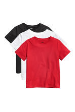 3-pack T-shirts - Red/Black - Kids | H&M 2