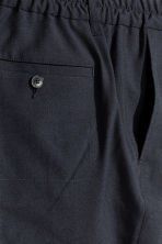 Elasticated wool trousers - Dark blue - Men | H&M CN 3