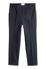 Elasticated wool trousers - Dark blue - Men | H&M CN 2