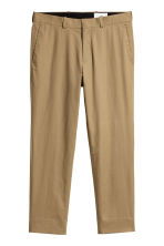 Cropped cotton-blend chinos - Dark beige - Men | H&M CN 2