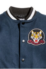 Baseball jacket - Dark blue/Black -  | H&M CN 7