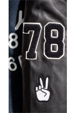 Baseball jacket - Dark blue/Black -  | H&M CN 6