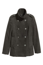 Pea coat - Dark grey - Ladies | H&M IE 2