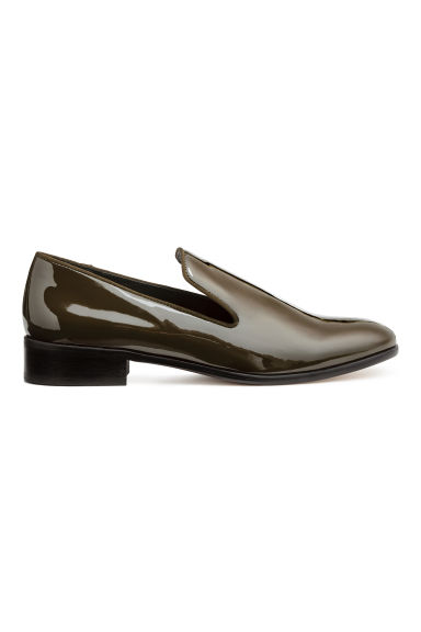 Lakleren loafers - Kakigroen/lak - DAMES | H&M BE 1