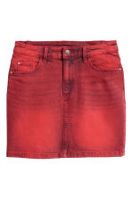 Denim rok - Rood washed out - DAMES | H&M NL 2