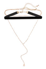 2-pack chokers - Gold/Black - Ladies | H&M CN 1