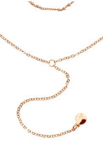 2-pack chokers - Powder pink/Gold-coloured - Ladies | H&M CN 2