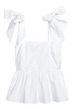 Flounced top - White - Ladies | H&M 2