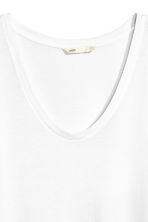 V-neck jersey top - White - Ladies | H&M 3