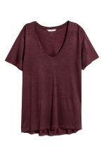V-neck jersey top - Plum - Ladies | H&M 2