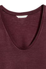 V-neck jersey top - Plum - Ladies | H&M 3
