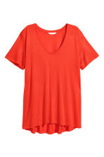 V-neck jersey top - Red - Ladies | H&M 2