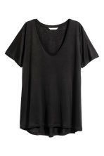 V-neck jersey top - Black - Ladies | H&M CN 2