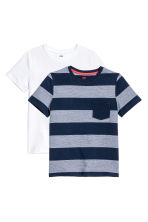2件入T恤 - Dark blue/Striped - Kids | H&M 2