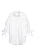 Cotton shirt - White - Ladies | H&M CN 2