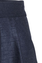 Textured skirt - Dark blue - Ladies | H&M CN 3