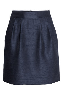 Textured-weave Skirt