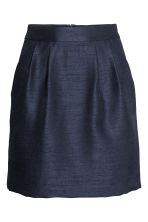 Textured skirt - Dark blue - Ladies | H&M CN 2