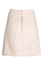 Textured skirt - Light beige/Paisley - Ladies | H&M 3
