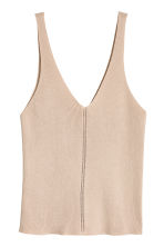 Ribbed top - Light beige - Ladies | H&M CA 2