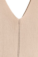 Ribbed top - Light beige - Ladies | H&M CA 3