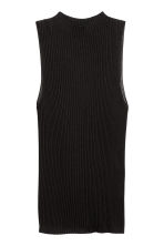 Ribbed sleeveless jumper - Black - Ladies | H&M CN 2