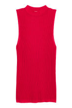Ribbed Sleeveless Sweater - Red - Ladies | H&M CA 2