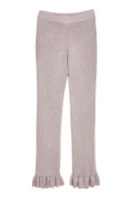 Glittery trousers with a frill - Light pink/Glittery -  | H&M 2